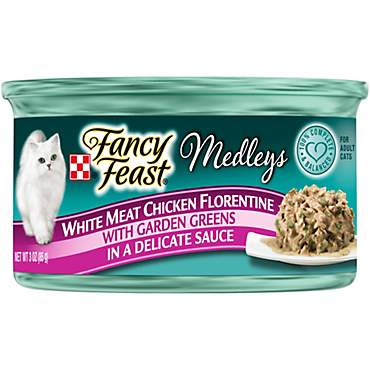 Fancy Feast Elegant Medleys White Meat Chicken Florentine Adult Canned Cat Food in Sauce