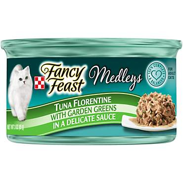 Purina Fancy Feast Medleys Tuna Florentine With Garden Greens in a Delicate Sauce Adult Wet Cat Food