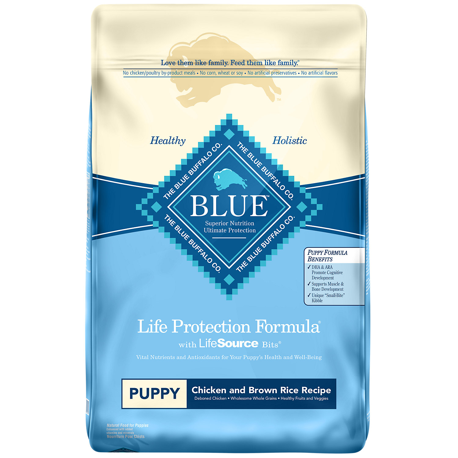 Blue Buffalo Chicken Brown Rice Puppy Food 15 Lbs.