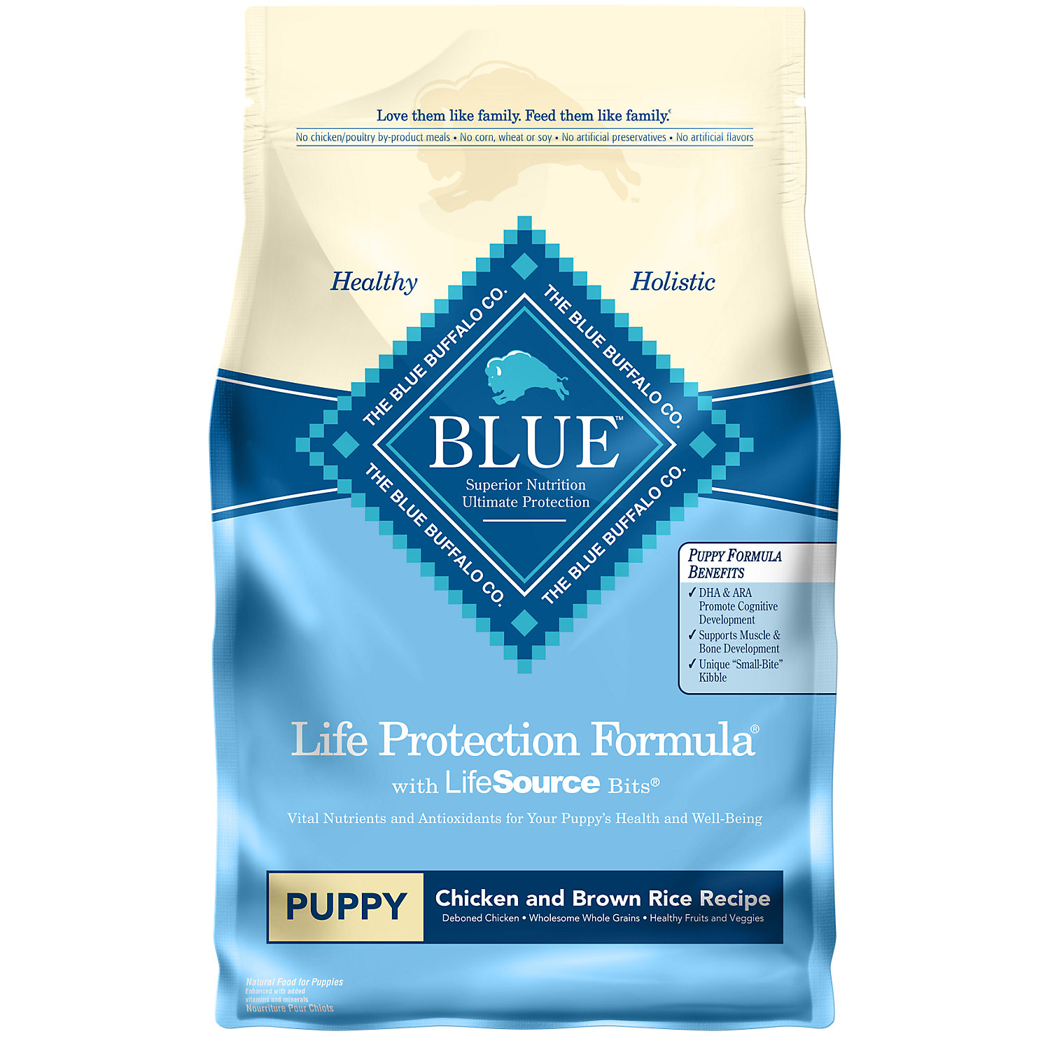 Blue Buffalo Chicken Brown Rice Puppy Food 6 Lbs. 6 Lb Bag