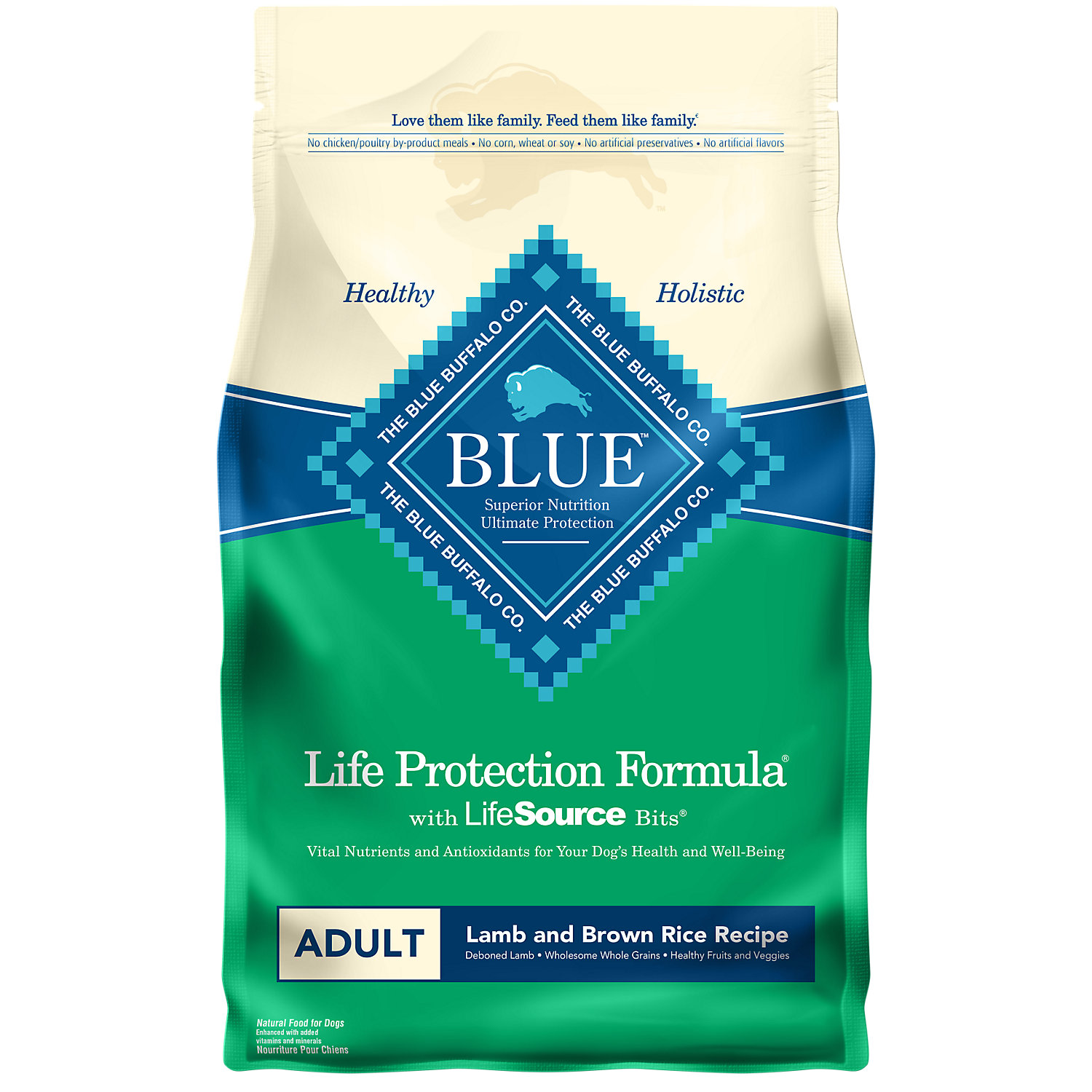 Blue Buffalo Lamb Brown Rice Adult Dog Food 6 Lbs.