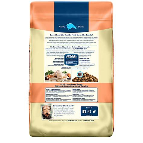 Blue Buffalo Blue Life Protection Formula Puppy Large Breed Chicken & Brown  Rice Recipe Dry Dog Food, 30 lbs