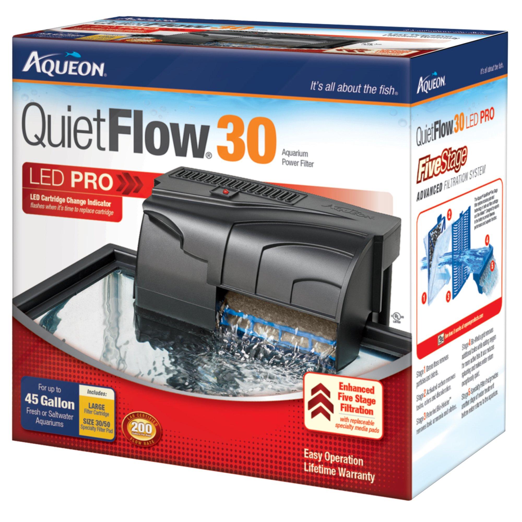 Aqueon quietflow 30 aquarium power filter petco for Petco fish filters