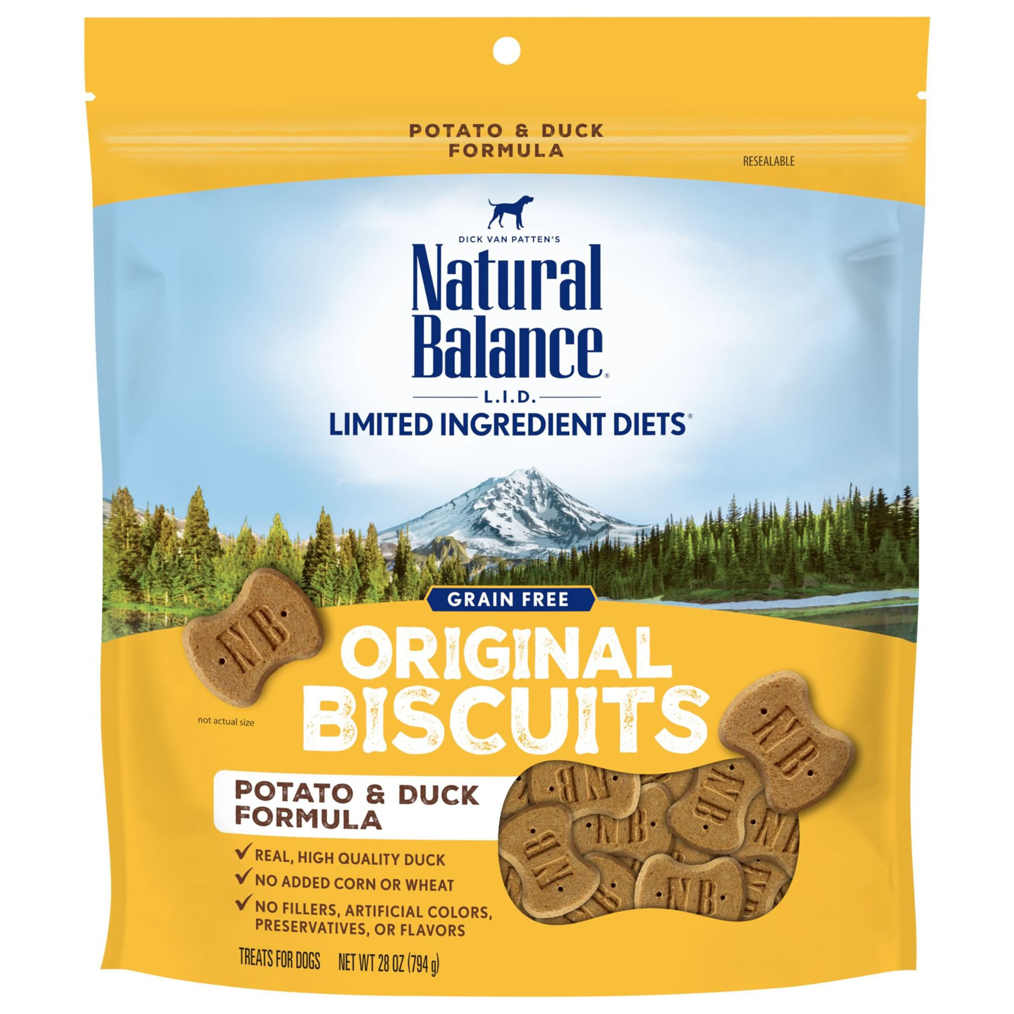 Natural Balance L.I.T. Limited Ingredient Treats Potato & Duck Formula Treats | Petco