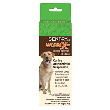 Sentry WormX Double Strength Liquid Wormer for Dogs and Puppies
