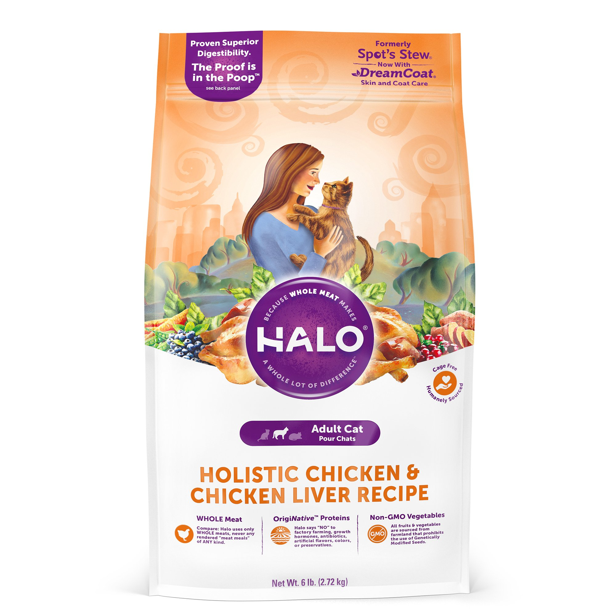 Halo Adult Holistic Chicken & Chicken Liver Dry Cat Food