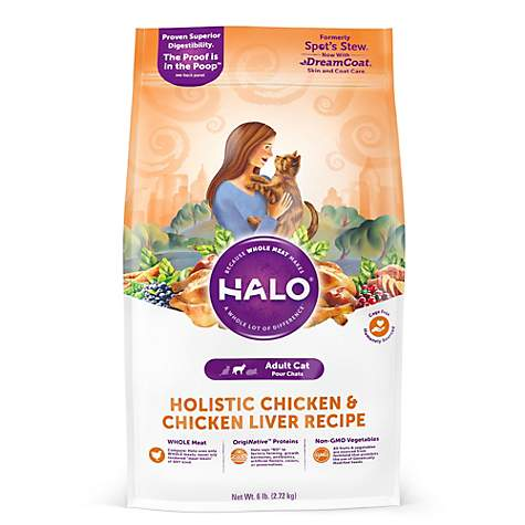 Halo adult holistic chicken chicken liver dry cat food petco forumfinder Choice Image