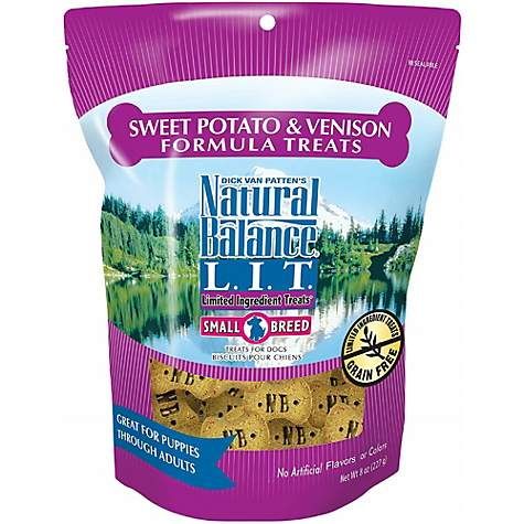 Natural Balance L.I.T. Limited Ingredient Treats Small Breed Sweet Potato & Venison Formula Dog Treats