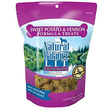 Natural Balance L.I.T. Limited Ingredient Treats Sweet Potato & Venison Formula Dog Treats
