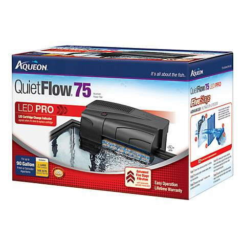Aqueon quietflow 55 75 aquarium power filter petco for 55 gallon fish tank petco