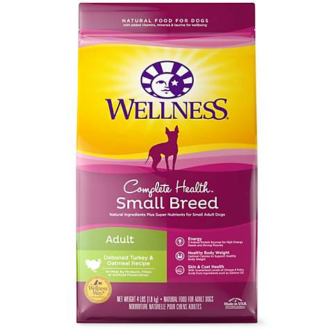 Wellness Complete Health Natural Small Breed Turkey and Oatmeal Recipe Dry Dog Food