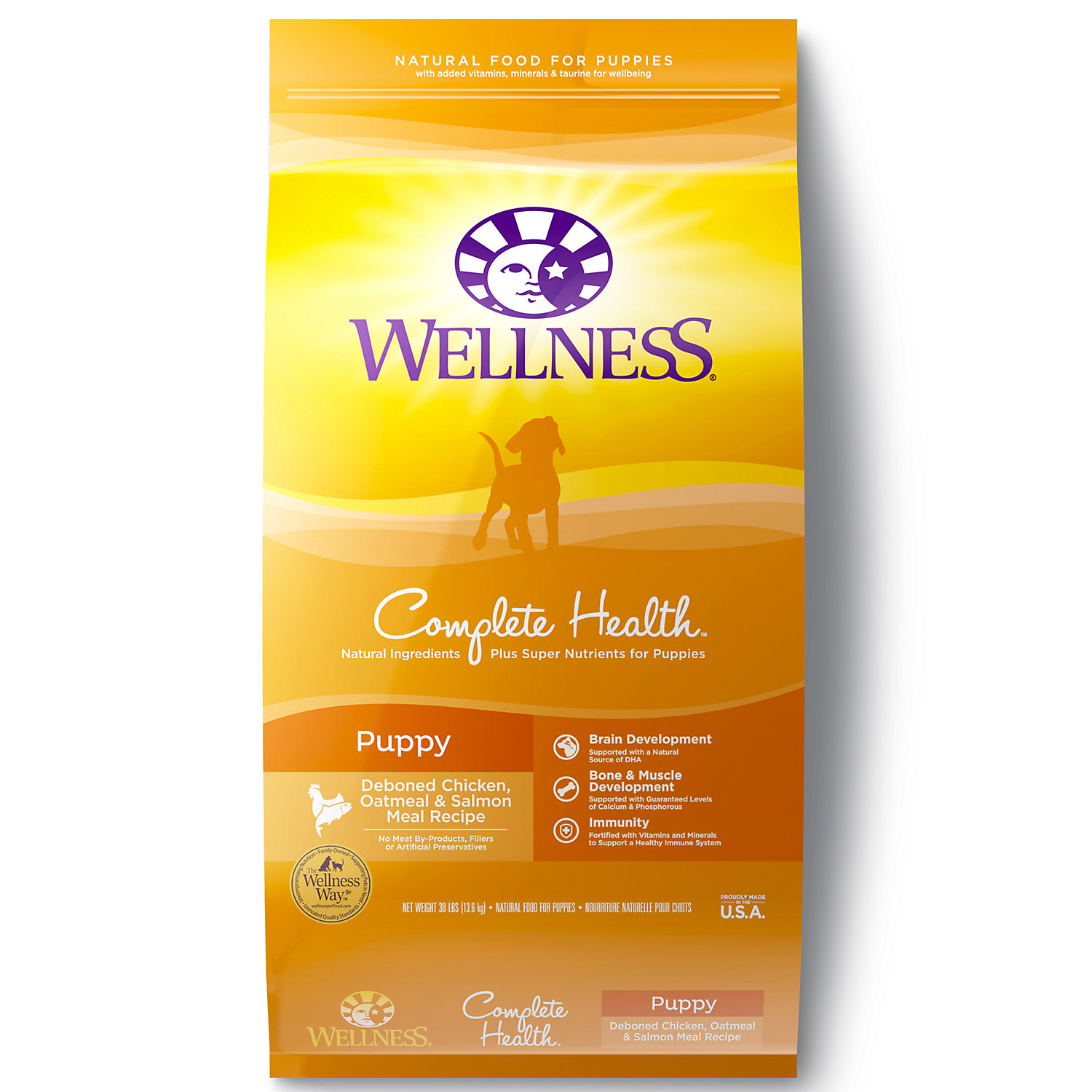 Wellness Complete Health Natural Puppy Health Recipe Dry Dog Food 15 Lbs.