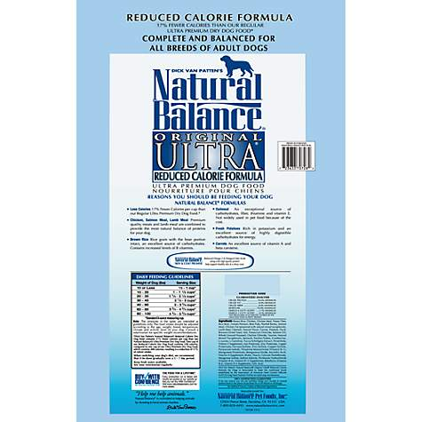 Natural Balance Reduced Calorie Formula Ultra Premium Dog Food Petco