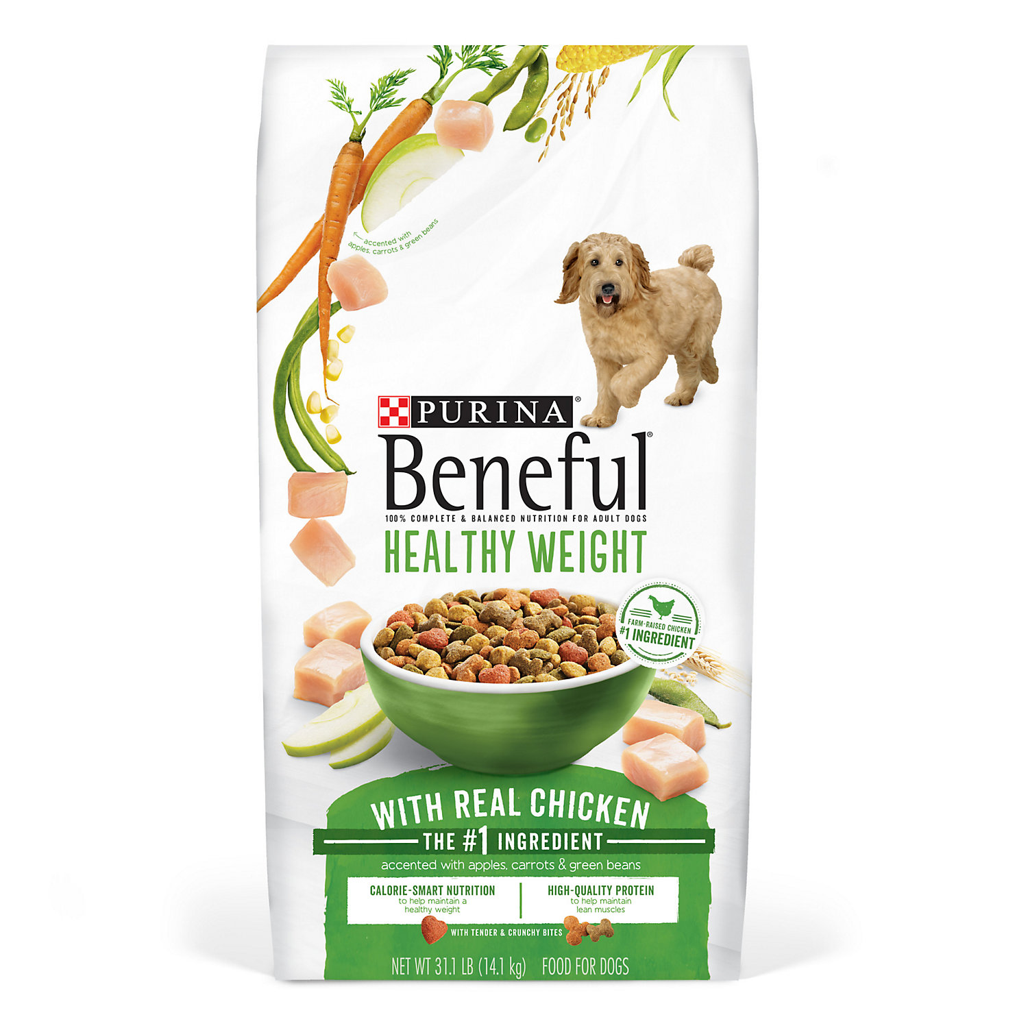 Purina Beneful Healthy Weight Adult Dry Dog Food  Lb