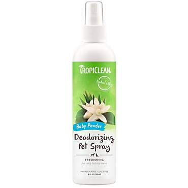 TropiClean Natural Pet Spray Colognes, Baby Powder