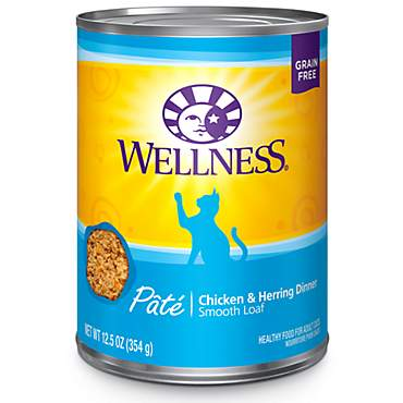 Wellness Complete Health Natural Grain Free Chicken & Herring Pate Wet Cat Food