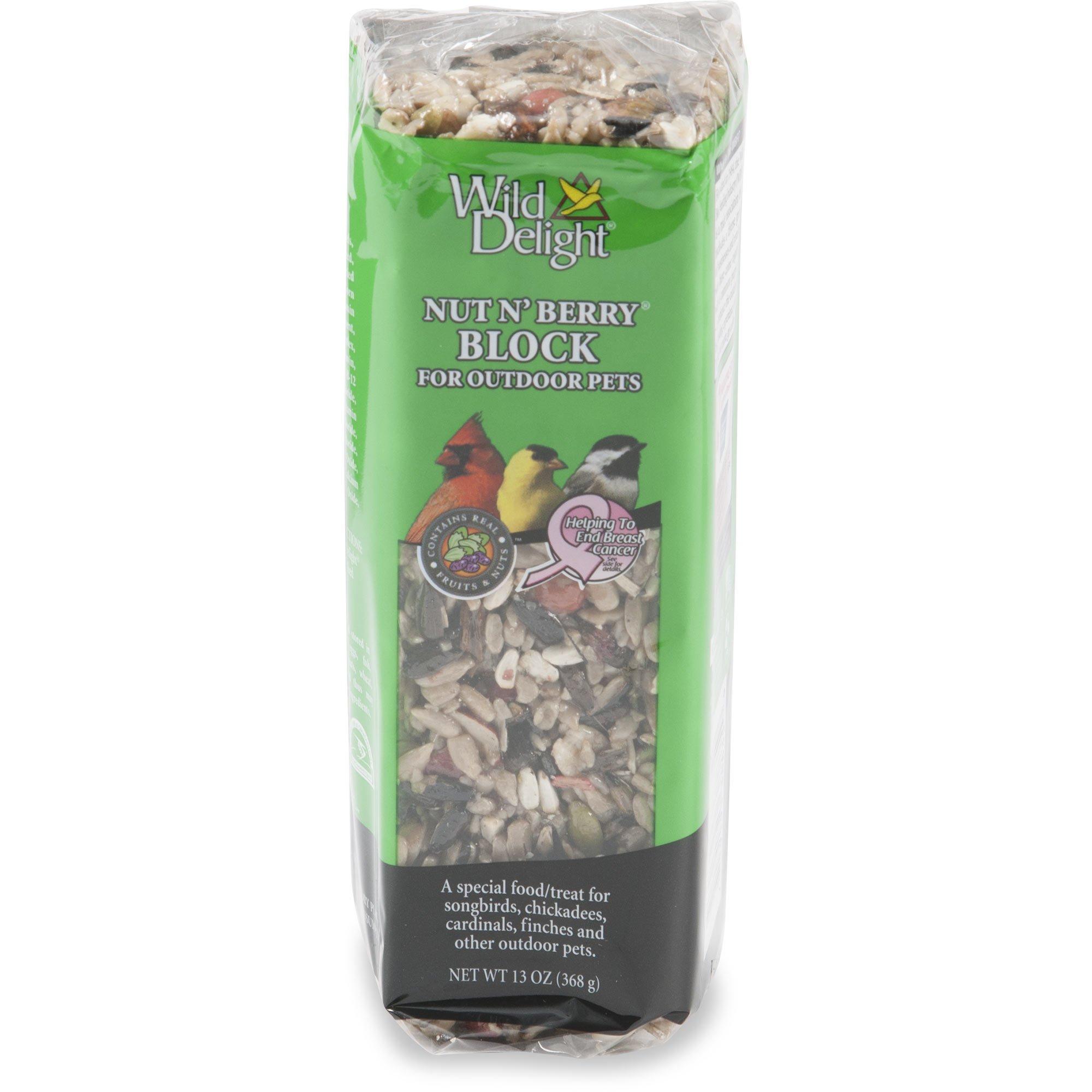 Wild Delight Nut N' Berry Food Block for Wild Birds, 13 oz  | Petco