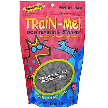 Crazy Dog Train-Me! Bacon Flavored Training Reward Dog Treats