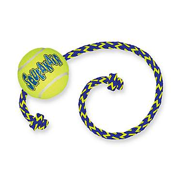 Air KONG Squeaker Ball with Rope Dog Toy