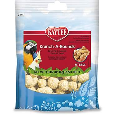 Kaytee Krunch-A-Rounds Sesame Covered Peanut Treat for Birds