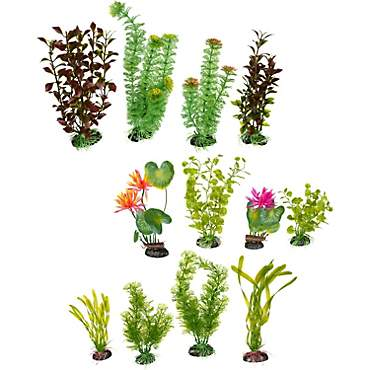 Imagitarium Variety Pack Plastic Aquarium Plants