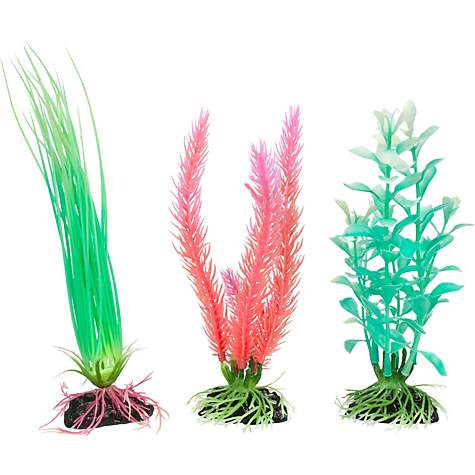 Imagitarium Glow In The Dark Variety Pack Plastic Aquarium Plants