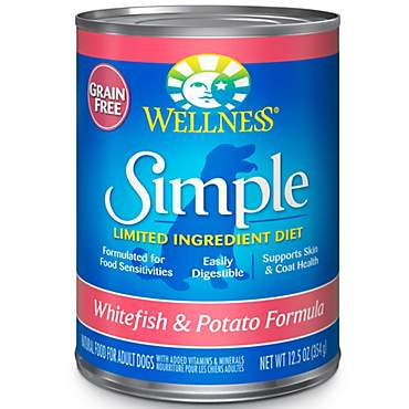 Wellness Simple Limited Ingredient Diet Grain-Free Whitefish & Potato Formula Canned Dog Food
