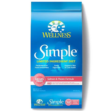 Wellness Simple Natural Grain Free Limited Ingredient Salmon and Potato Recipe Dry Dog Food