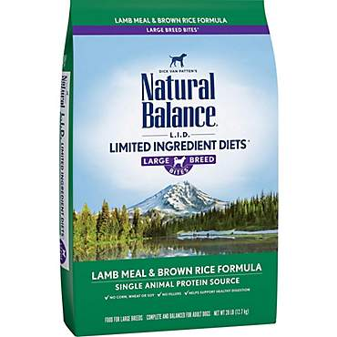 Natural Balance L.I.D. Limited Ingredient Diets Lamb Meal & Brown Rice Formula Large Breed Dog Food