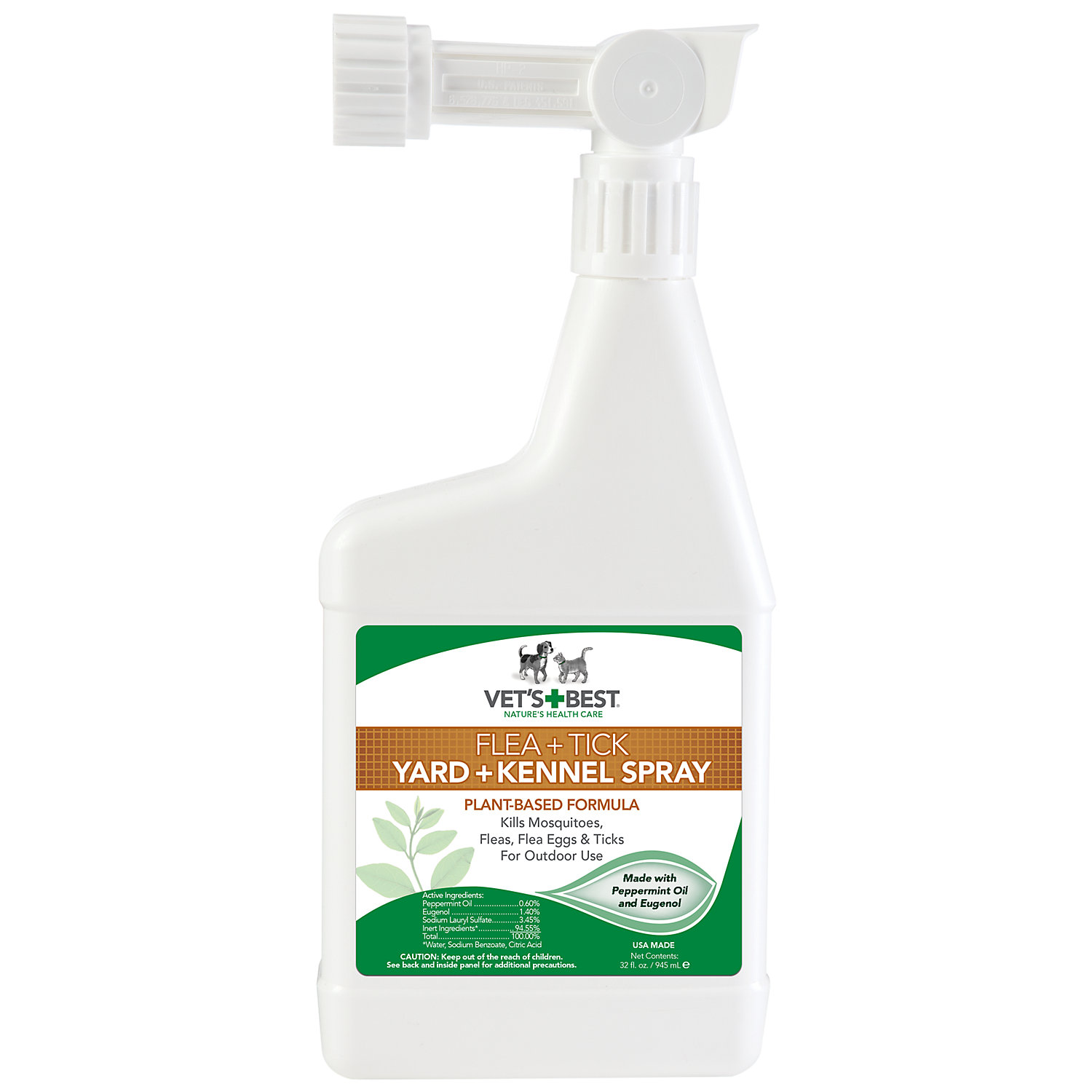 Vets Best Flea Tick Yard Kennel Spray 32 Oz.