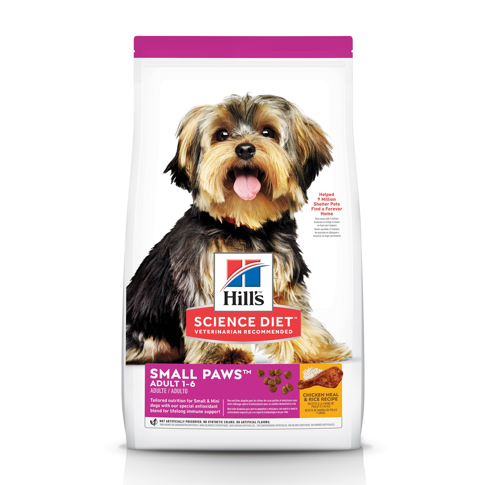 Hill's Science Diet Adult Small Paws Chicken Meal & Rice Recipe Dry Dog  Food, 15 5 lbs  | Petco
