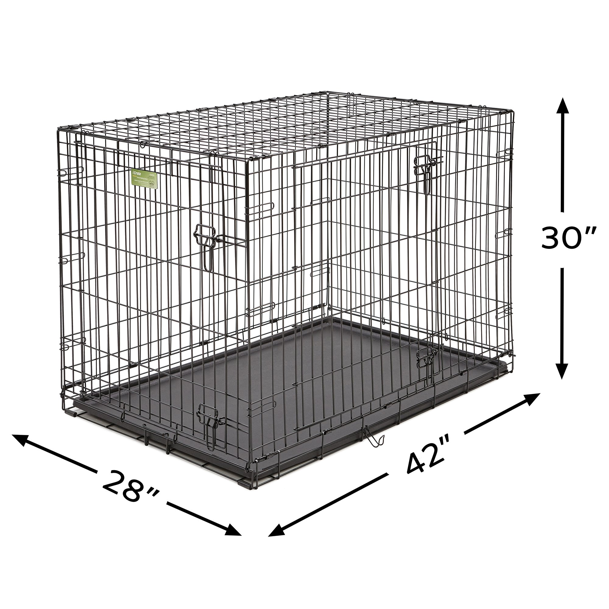 Midwest-iCrate-Double-Door-Folding-Dog-Crates thumbnail 5