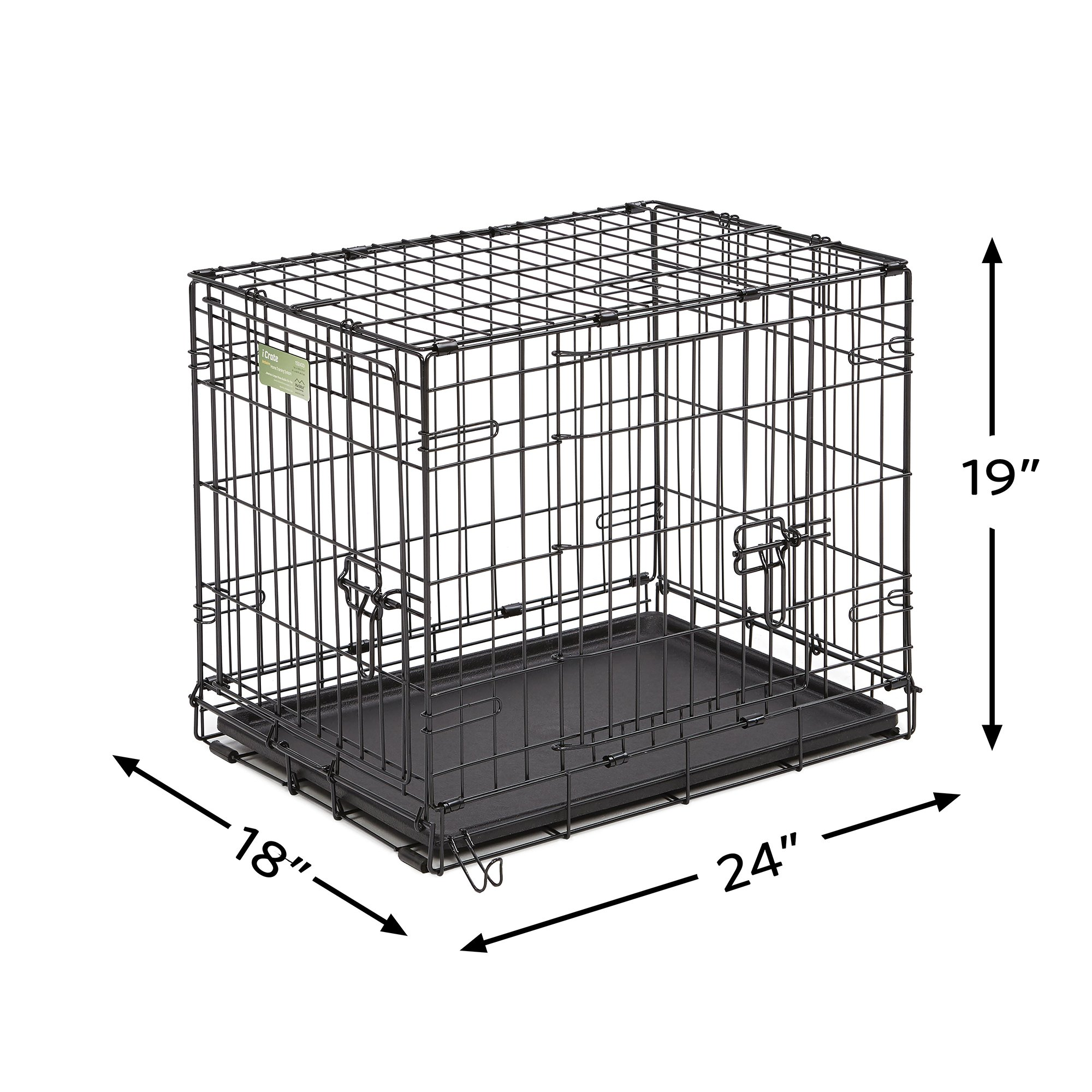 Midwest-iCrate-Double-Door-Folding-Dog-Crates thumbnail 9