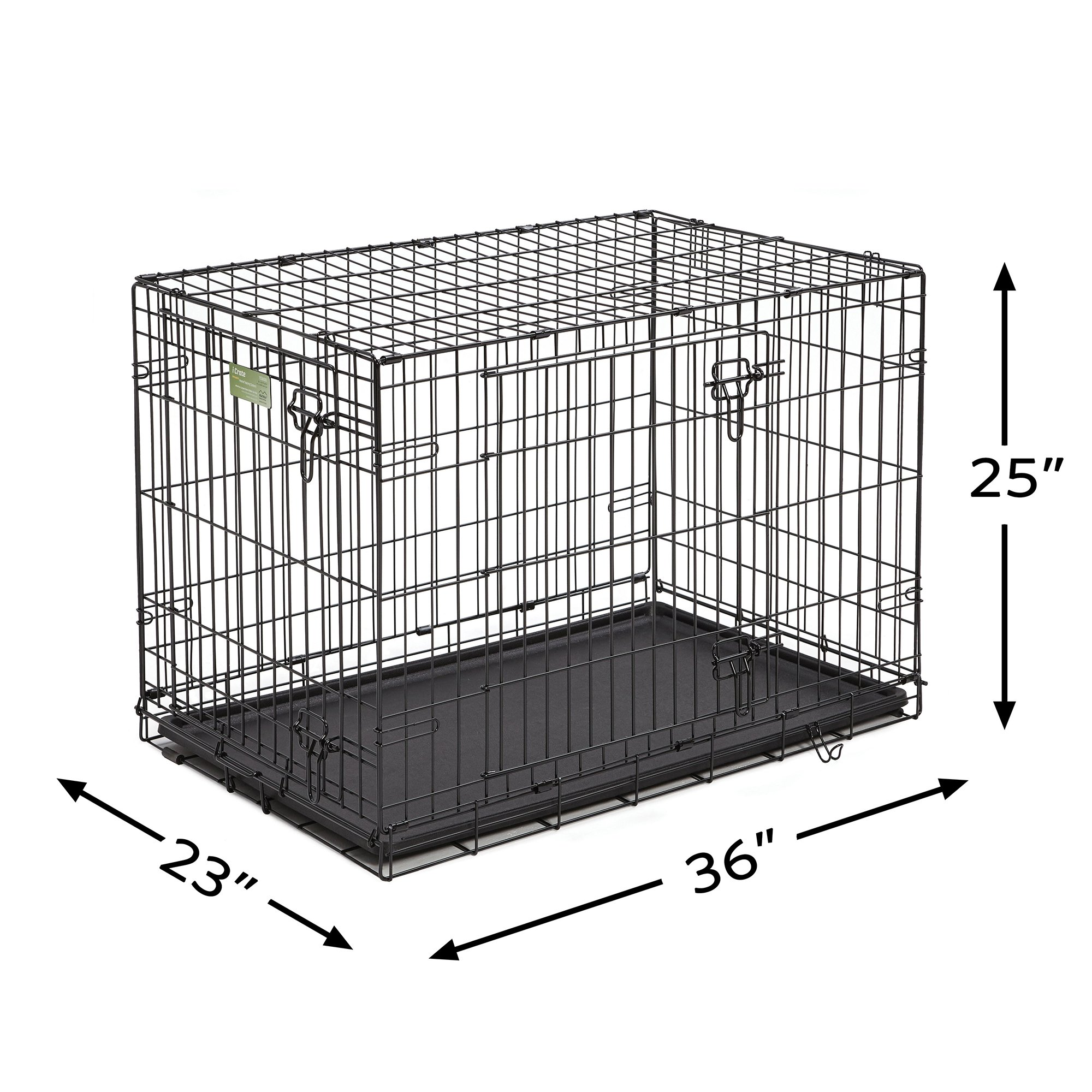 Midwest-iCrate-Double-Door-Folding-Dog-Crates thumbnail 12