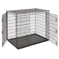 midwest solution series double door dog crate