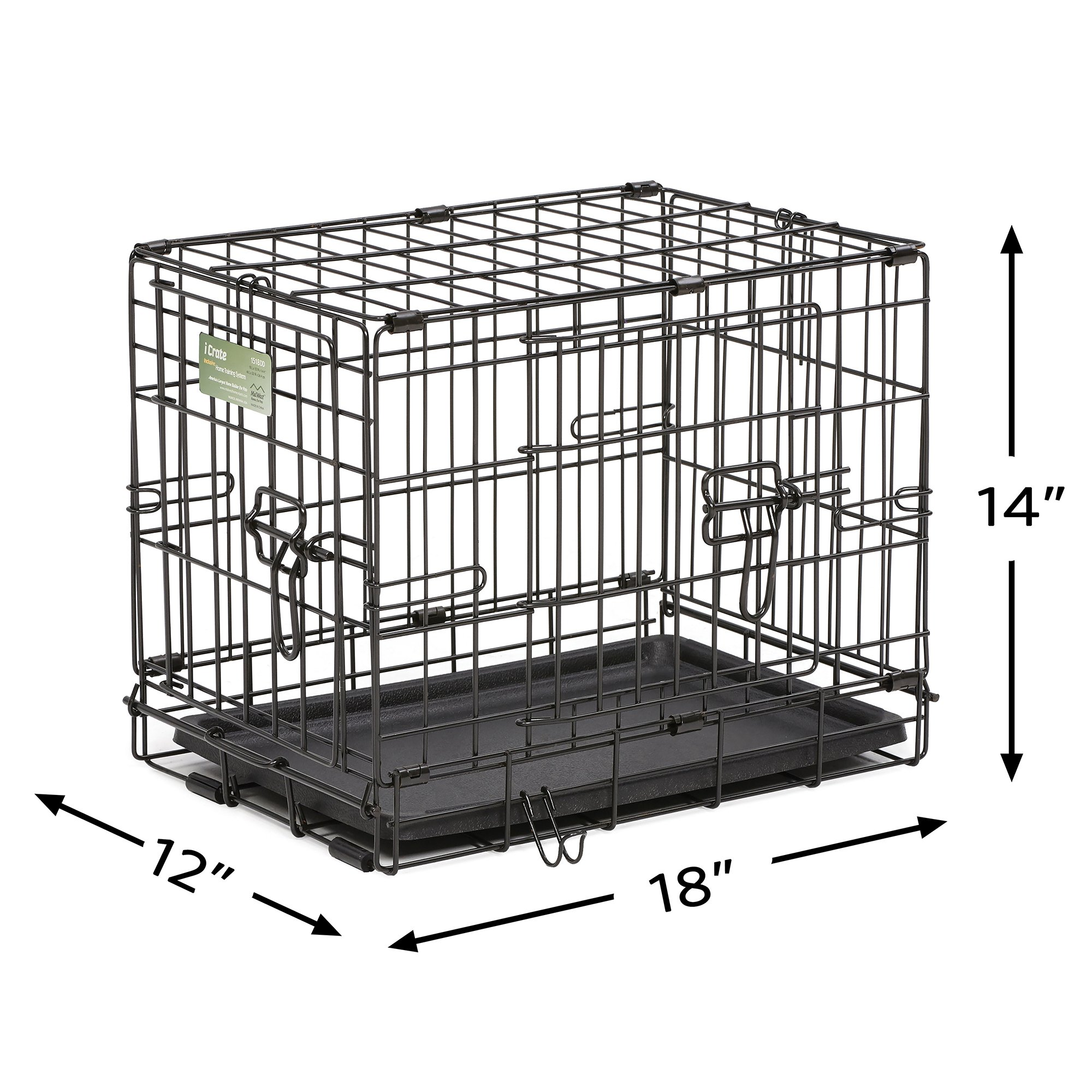 Midwest-iCrate-Double-Door-Folding-Dog-Crates thumbnail 21