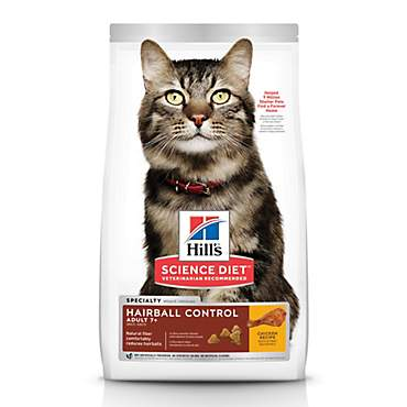 Hill's Science Diet Adult 7+ Hairball Control Chicken Recipe Dry Cat Food
