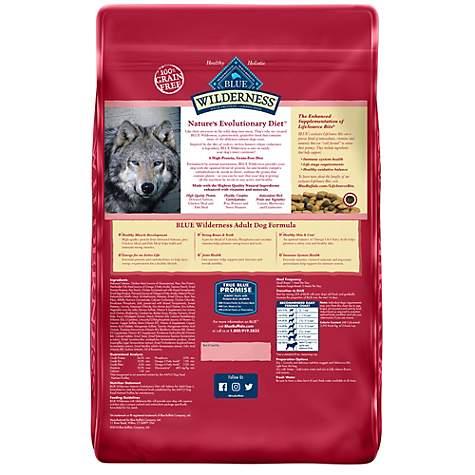 Blue Buffalo Blue Wilderness Adult Salmon Recipe Dry Dog Food, 24 lbs