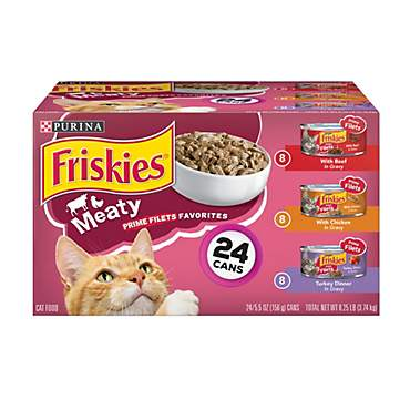 Purina Friskies Prime Filets Meaty Favorites Adult Wet Cat Food Variety Pack