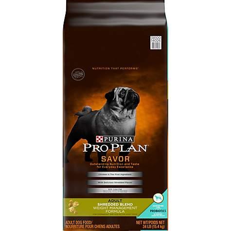 Purina Pro Plan Savor Shredded Blend Weight Management Formula Adult Dry Dog Food 34 Lbs