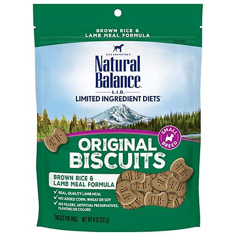Natural Balance L.I.T. Limited Ingredient Treats Brown Rice & Lamb Meal Formula Small Breed Dog Treats