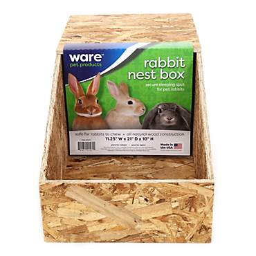 WARE Wooden Nest Box for Chickens & Rabbits