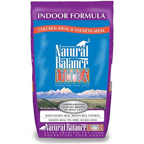 Natural Balance Indoor Ultra Premium Chicken Meal & Salmon Meal Formula Dry Cat Food