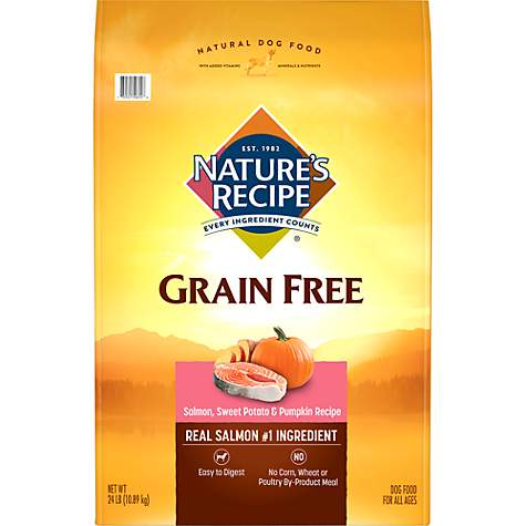 Nature's Recipe Grain-Free Salmon, Sweet Potato & Pumpkin Dry Dog Food