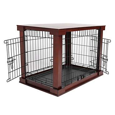 Merry Cage with Crate Cover Mahogany