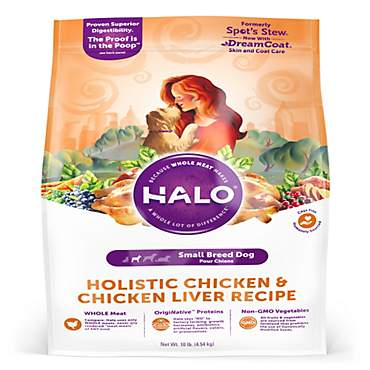 Halo Holistic Chicken and Chicken Liver Recipe Small Breed Dry Dog Food