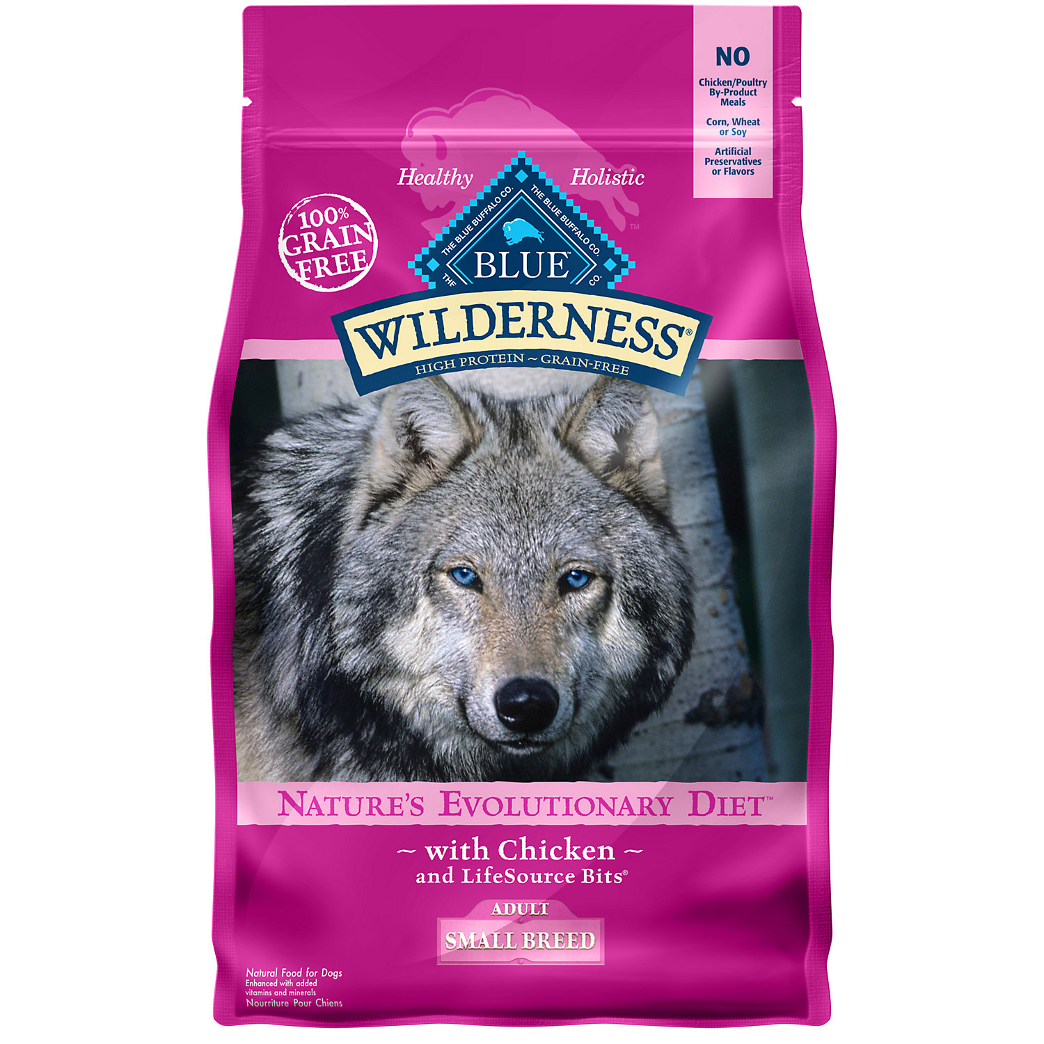Blue Buffalo Small Breed Wilderness Chicken Adult Dry Dog Food 4.5 Lbs.