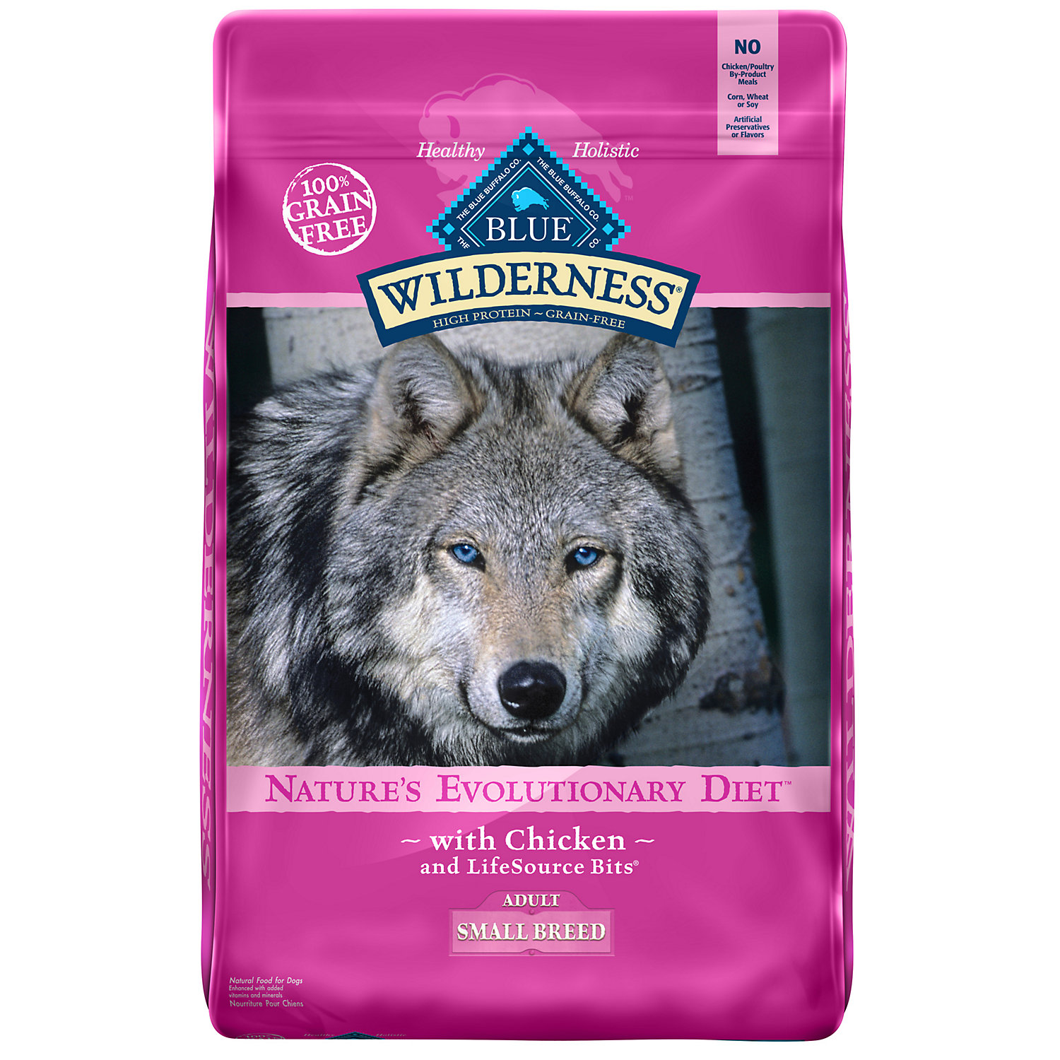 Blue Buffalo Small Breed Wilderness Chicken Adult Dry Dog Food 11 Lbs.
