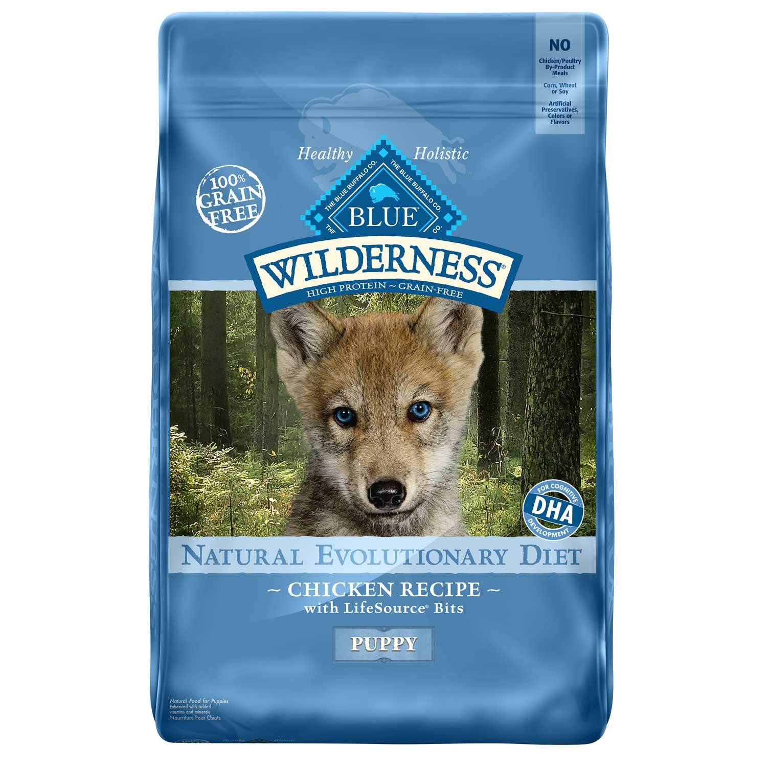 Blue Buffalo Blue Wilderness Puppy Chicken Recipe Dry Dog Food