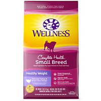 Wellness Small Breed Complete Health Healthy Weight Turkey & Brown Rice Adult Dog Food